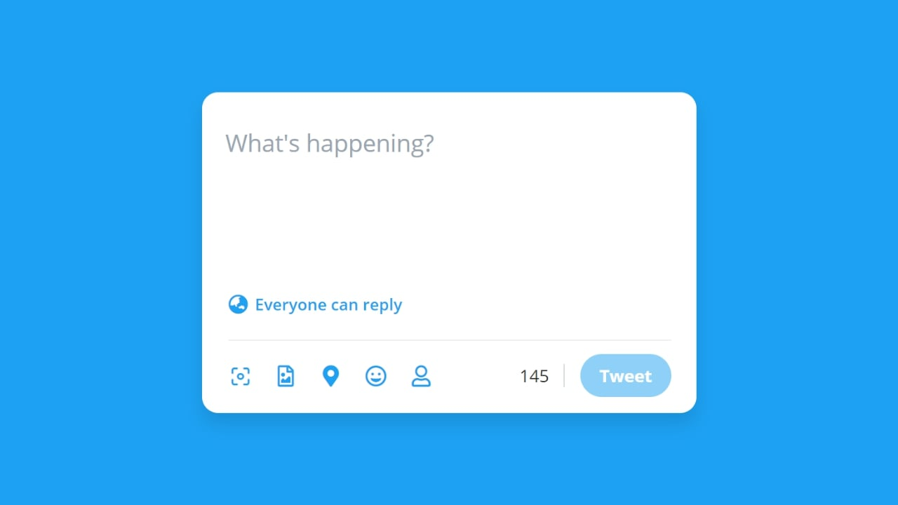 Tweet Box with Character Limit Highlighting in JavaScript