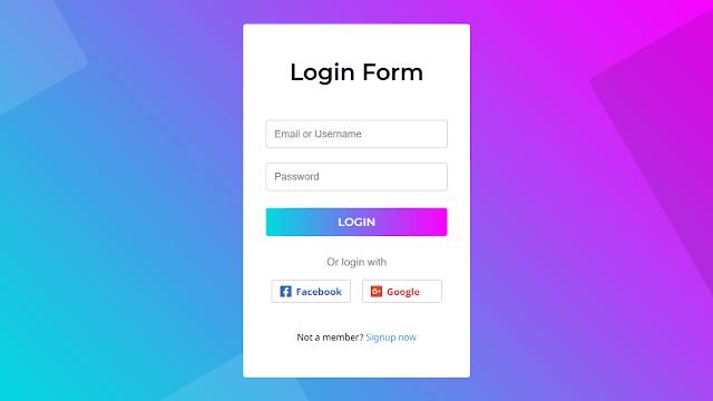 Animated Login Form using HTML CSS & JavaScript