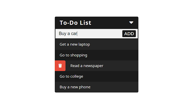 Minimal To-Do List using HTML CSS and jQuery