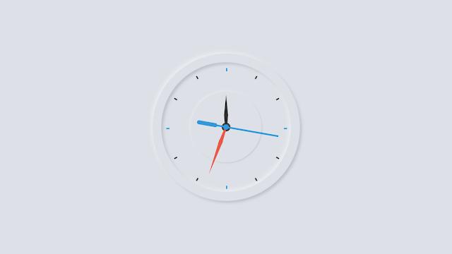 Working Analog Clock using HTML CSS and Javascript