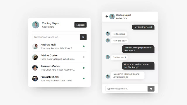 Realtime Chat Application using PHP with MySQL & JavaScript Ajax