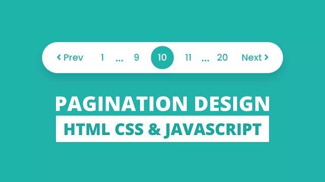 Pagination UI Design using HTML CSS & JavaScript
