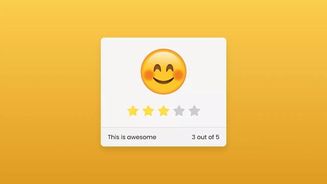 Pure CSS Emoji Star Rating Widget