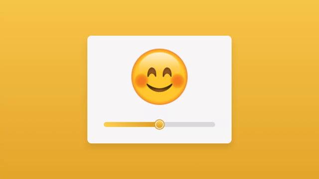 Custom Emoji Range Slider using HTML CSS & JavaScript