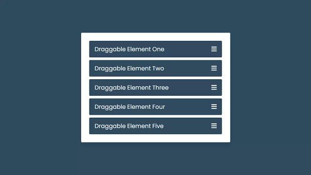 Drag & Drop List or Draggable List using HTML CSS & JavaScript