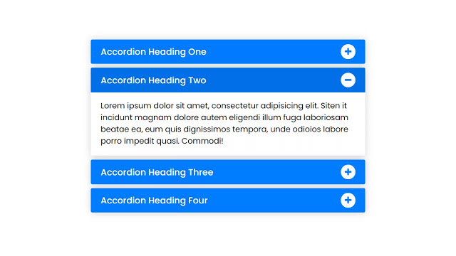 Responsive Accordion Menu using only HTML & CSS