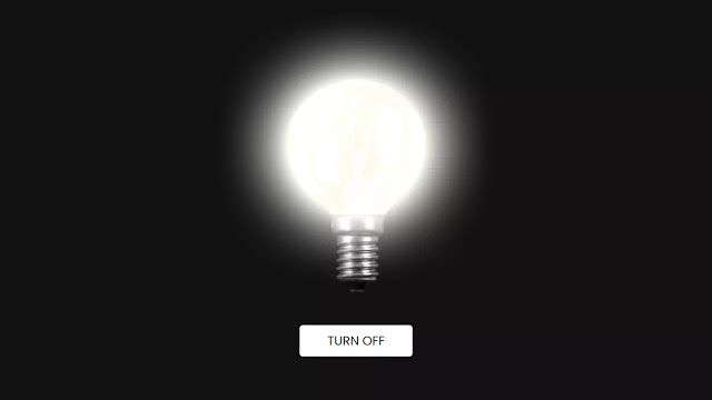 Glowing Bulb Effect using only HTML & CSS