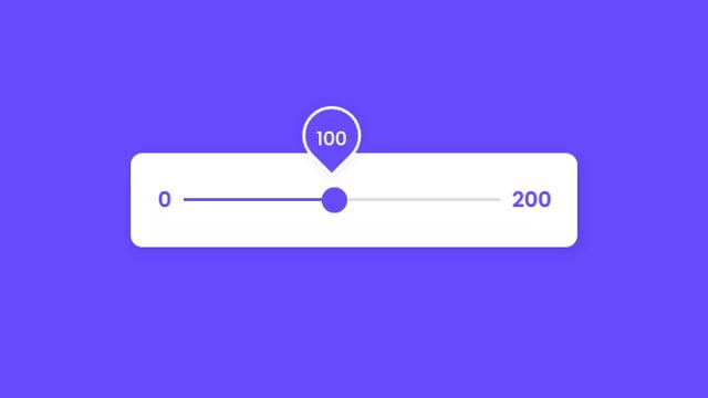 Custom Animated Range Slider using HTML CSS & JavaScript