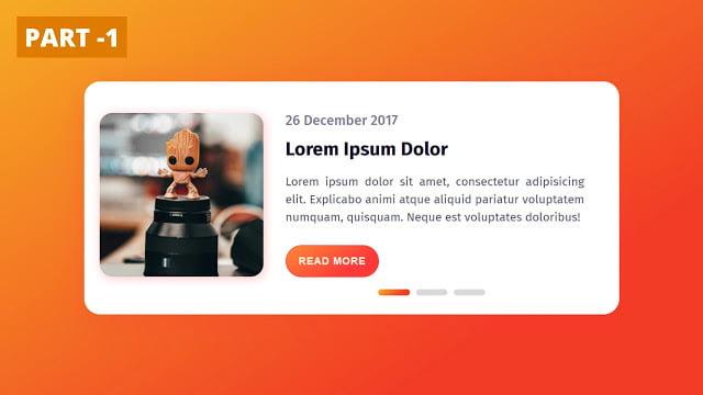 Animated Slider Blog Card using HTML & CSS