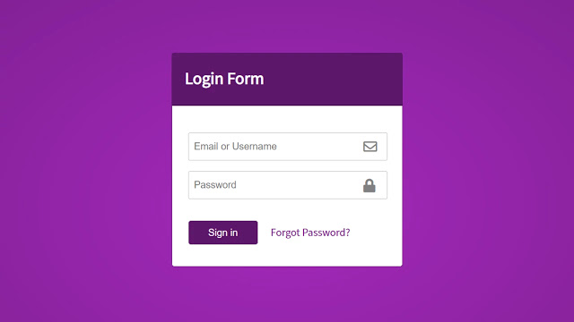 Cool Login Form in HTML CSS & JavaScript