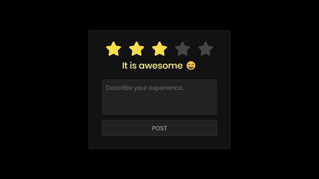 Star Rating System in HTML CSS & JavaScript